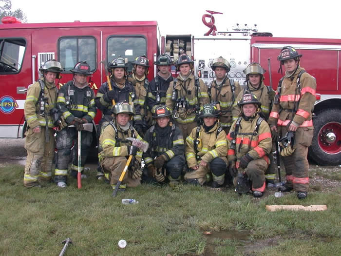 Group of firefighters posing
